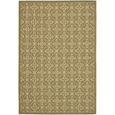Found it at Wayfair - Courtyard Green/Crème Rug