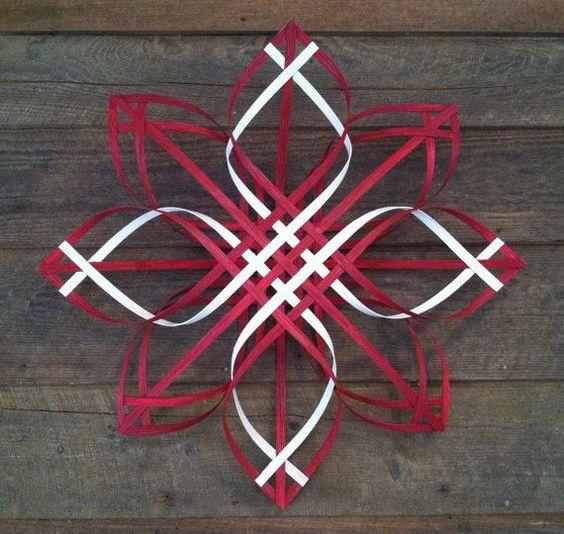 swedish christmas snowflakes | Scandinavian - Swedish - Advent star woven reed Christmas wreath, App ...: