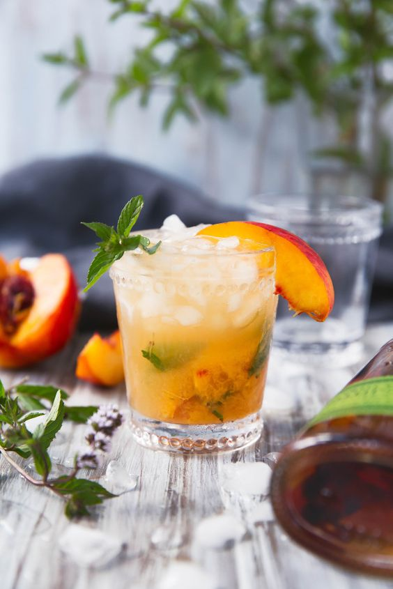 Peach Julep | Recipe | Peaches, Mint and Whiskey Cocktails