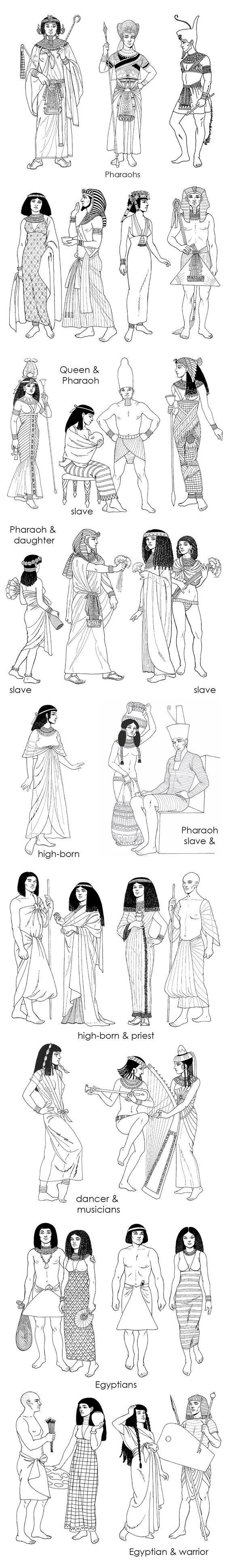 Faraones, reinas, esclavas, musicos, ciudadanos....: