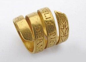 Gold wedding ring, Dutch, ca. 1550