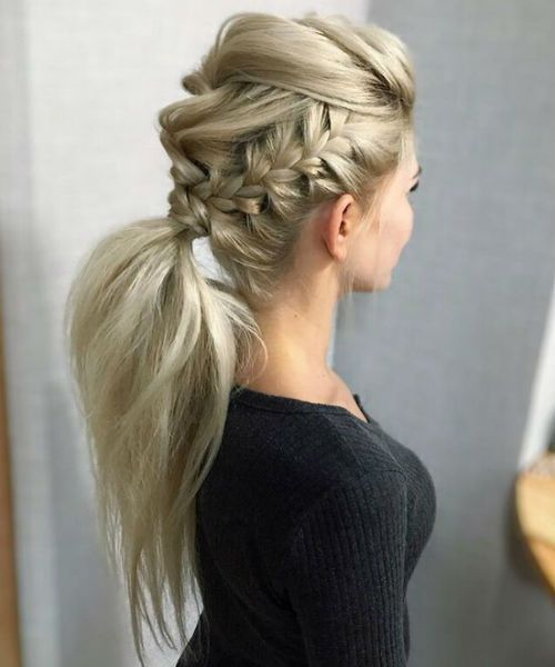 Braided Hairstyles You Can Do At Home How To Updo Braided Hairstyles Braided Hairstyles Viking How To Easy In 2020 Hair Styles Braids With Curls Braided Hairstyles