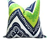 OUTDOOR - Trina Turk Tangier Frame pillow cover in Sea Grass