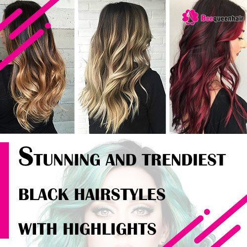 Most Stunning And Trendiest Black Hairstyles With Highlights Hair Styles Most Common Hair Color Blue Hair Highlights