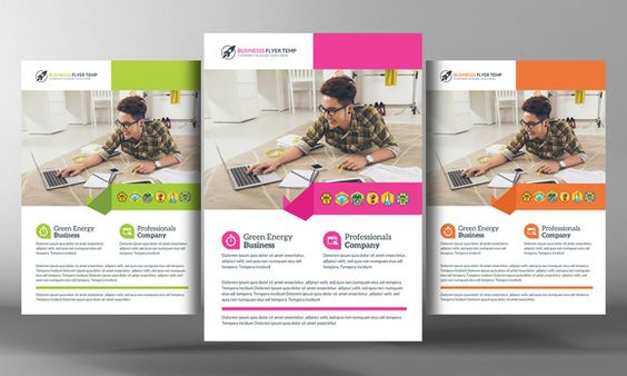 Corporate Business Flyer Template  Flyers Flyer Template And