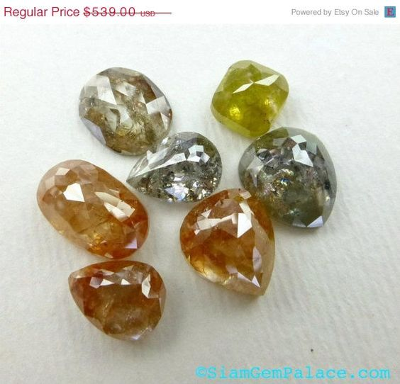 ON SALE DIAMONDs TERRACoTTA REd Natural Fancy Color by gempalace, $431.20