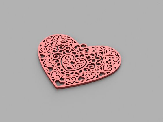 Heart+pendant+(ornate)+-+Valentine's+Day+by+toddschnack.