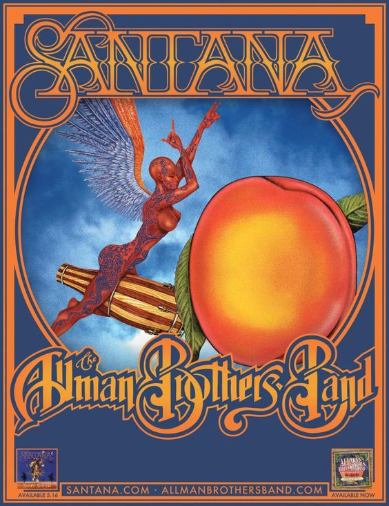 2012 Summer Tour. Santana and Allman Brothers Band. There won't be any new posters featuring ABB soon