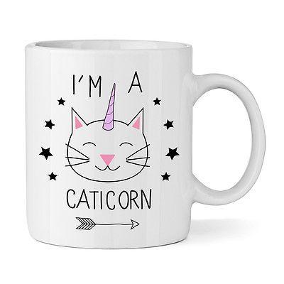 I'M A CATICORN 325,3 ml BECHER TASSE Einhorn Tiere Lustig Katze Neuheit in Möbel & Wohnen, Kochen & Genießen, Gedeckter Tisch | eBay