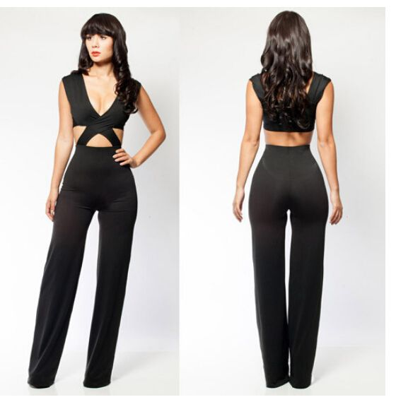 sexy backless jump suits for women black jumpsuit clubwear plus ...