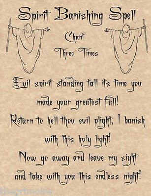 Spirit Banishing Spell (Printable Spell Page) – Witches Of The Craft®