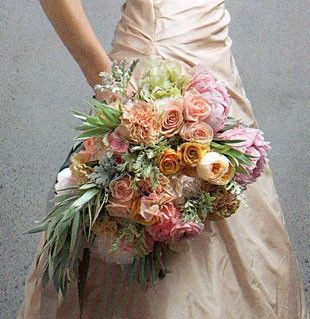 volume, yes flowers, not quite.Vintage Flowers: Cascading Bouquets