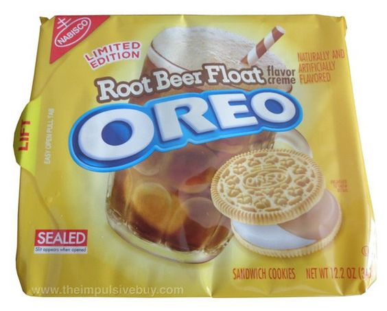 Nabisco Limited Edition Root Beer Float Oreo Cookies by theimpulsivebuy, via Flickr