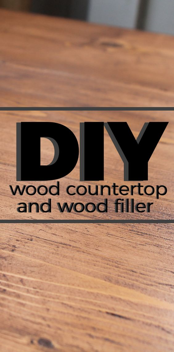 Countertop Filler : The ojays, Wood countertops and Diy wood countertops on Pinterest