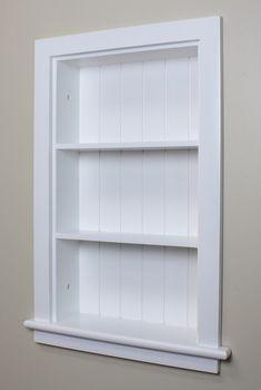 14x24 White Recessed Aiden Wall Niche W Beadboard Back Bathroom Cabinets Diy Wall Niche