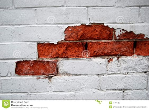 outer wall chipped paint