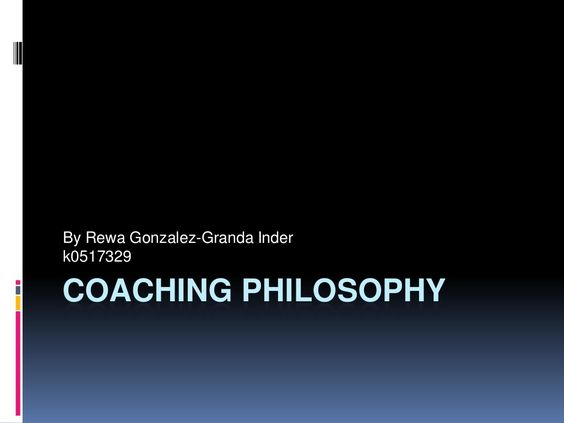 Coaching Philosophy example