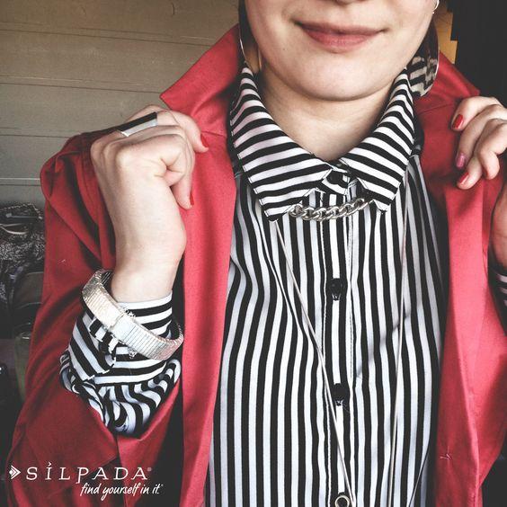 Look like a boss with a collared shirt and #Silpada silver! | #WorkingGirl #WomensFashion #blazer