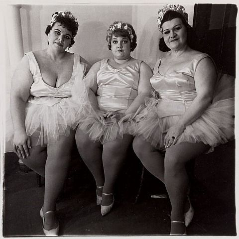 artnet Galleries: Three Circus Ballerinas by Diane Arbus from Jörg Maass Kunsthandel   1964