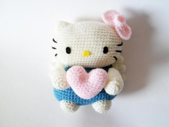 Peluche angelito hello kitty Amigurumis, munecos ...