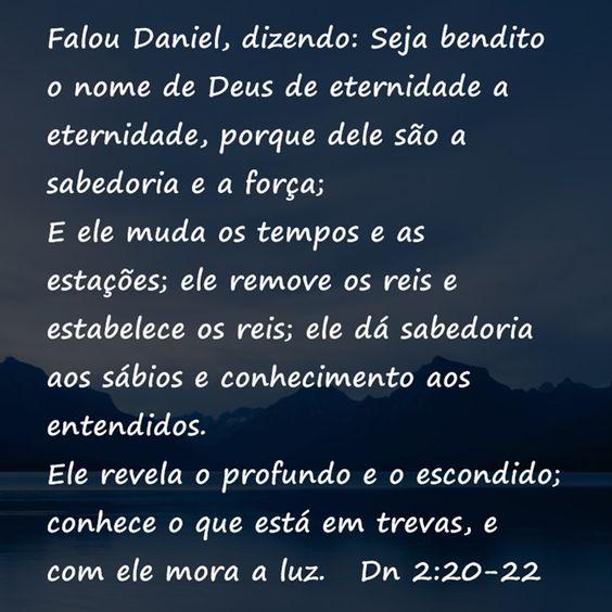 VERSÍCULOS BÍBLICOS: Daniel 2:20-22