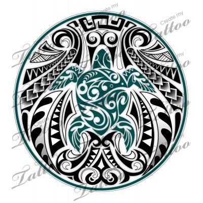 Marketplace Tattoo SBink Honu Turtle #10287   CreateMyTattoo.com