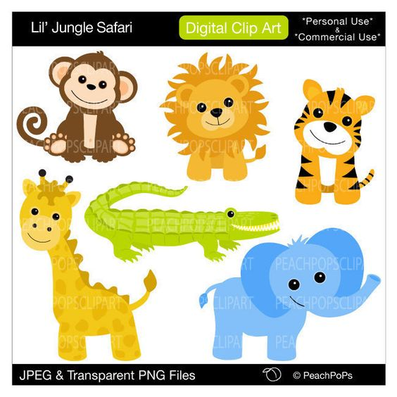free clip art baby safari animals - photo #30
