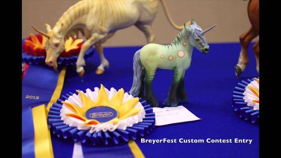 Photos of customs and artist models at BreyerFest 2015 - breyer and stone models