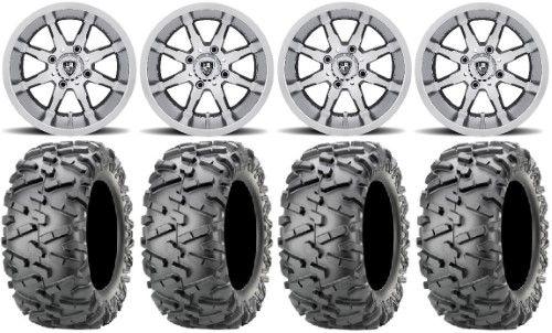 Fairway Alloys Shift Mach Golf Wheels 12 23x10 12 Bighorn 2 0 Tires Yamaha Grey Yamaha Viking Kawasaki Mule Golf Wheels