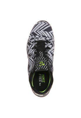Nike Performance FREE 5.0 TR FIT 5 - Trainings- / Fitnessschuh - black/metallic silver/white/volt - Zalando.de