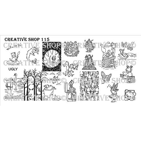 Creative Shop- Stamping Plate- 115
