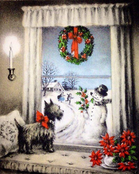 Old Fashion Christmas Cross Stitch Pattern PDF File