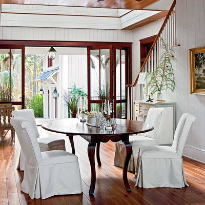 Dining Room Modern Dogtrot Home Gardens Home And Dining Rooms