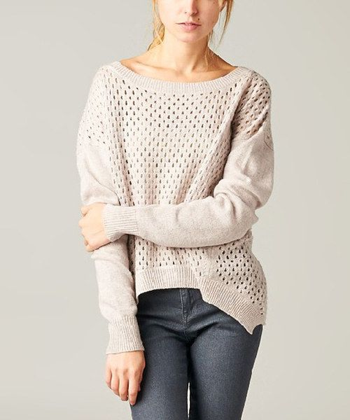 Take a look at the Lavender Open Knit Sidetail Sweater on #zulily today!