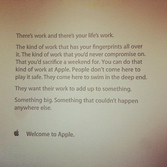 Great mission statement by Apple Inc