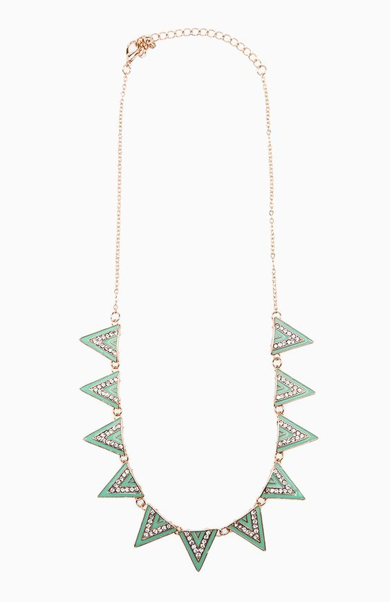 Spearmint Spike Necklace from DailyLook. Totally loving statement necklaces right now