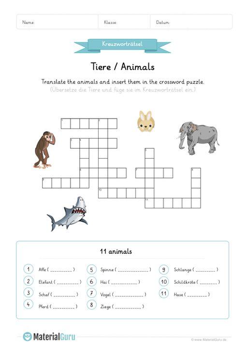 Tipss Und Vorlagen Tiermalerei Englisch Lernen Tiere Lernen Pdf 2019 Englisch Lernen Englisch Lernen Kinder Kreuzwortratsel Fur Kinder