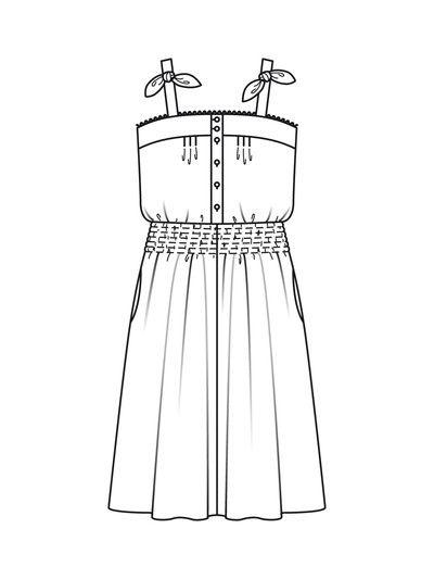 burda casual dress