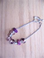 Purple Pandora inspired bracelet   $25.00
