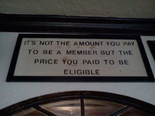 A sign above a door of a Returned Soldiers' club.
