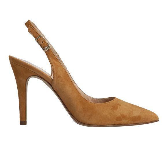 El stiletto destalonado Andrea en color marrón te brindará el resultado perfecto para este verano, con un color súper combinable y un corte de impacto.  http://mas34shop.com