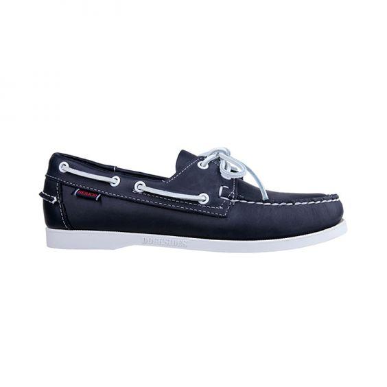 Docksides blue by #Sebago  #BoatShoe leather xigoros.com
