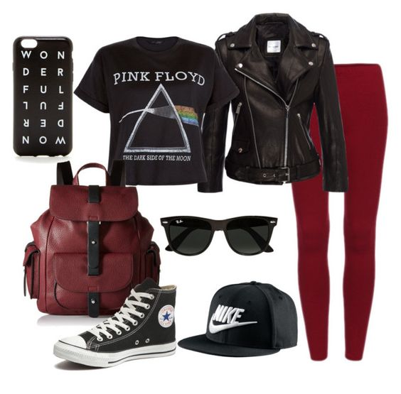 """Causalcool"" by lalacottoncandy on Polyvore featuring beauty, Floyd, Kenneth Cole Reaction, J.Crew, NIKE, Ray-Ban and Converse"