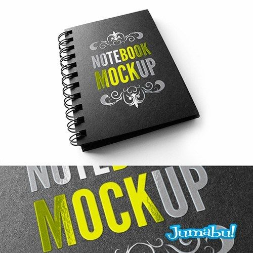 Mock Up de un Anotador Espiralado en Photoshop Jumabu! Design - agenda download free