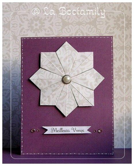 tuto carte avec etoile en origami la bocfamily cartes etoiles pinterest origami. Black Bedroom Furniture Sets. Home Design Ideas
