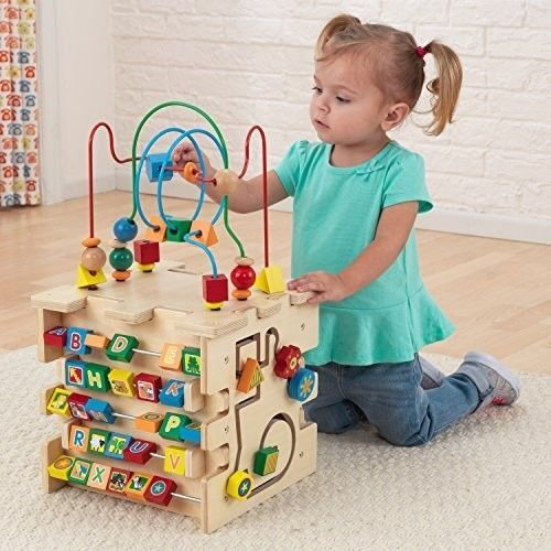 Fyi Wooden Activity Cube Bead Maze Kids Baby Preschool Educational Center Play Toy Activity Cube Best Toddler Toys Cube Toy