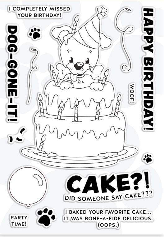Kleurplaten Verjaardag Vake.Clear Stamps Gelukkige Verjaardag Cake Diy Scrapbook Card