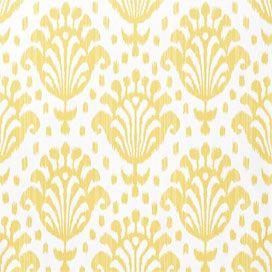 Thai ikat wallpaper in yellow