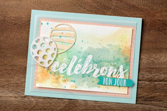 Use the Happy Celebrations stamp set and the Celebrations Duo Textured Impressions Embossing Folders together to create this fun birthday card. #stampinup #OccasionsMini2017
