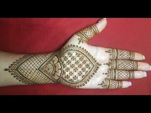 front hand simple mehndi design full hand